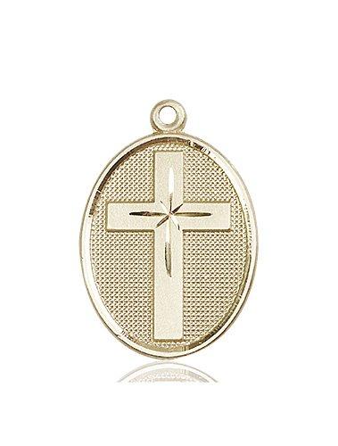 14kt Gold Cross Medal #87317