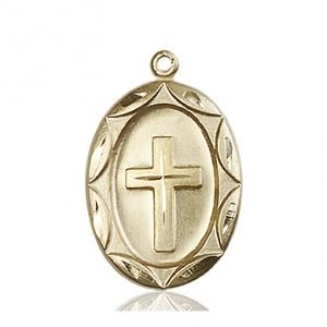 14kt Gold Cross Medal #87323
