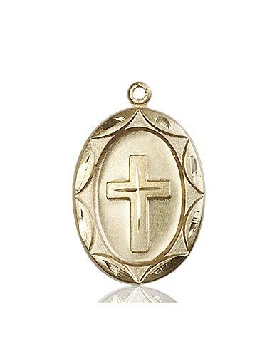 14kt Gold Cross Medal #87323