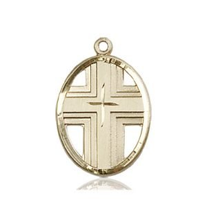14kt Gold Cross Medal #87327