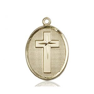 14kt Gold Cross Medal #87336