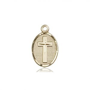 14kt Gold Cross Medal #87354