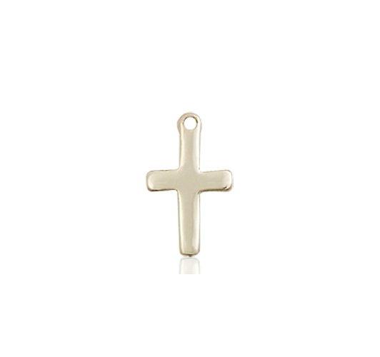 14kt Gold Cross Medal #87358