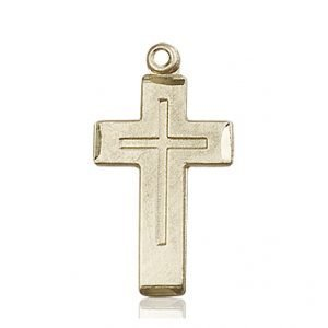 14kt Gold Cross Medal #87390