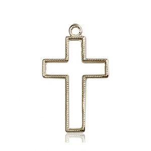 14kt Gold Cross Medal #87402