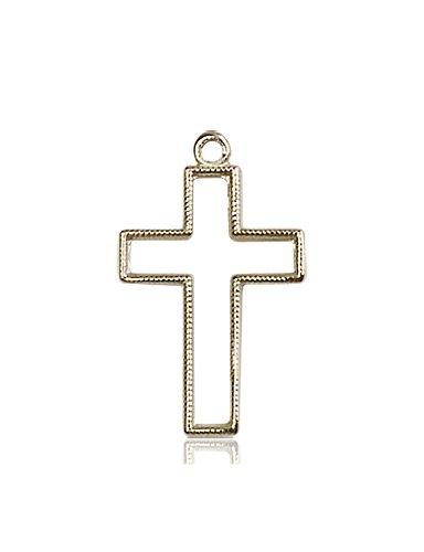14kt Gold Cross Medal #87402