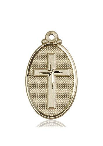 14kt Gold Cross Medal #87607