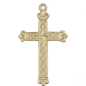 14kt Gold Cross Medal #87670