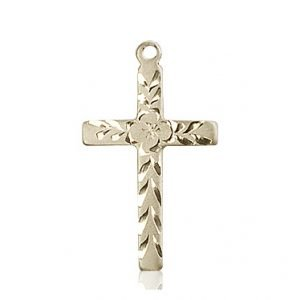 14kt Gold Cross Medal #87746