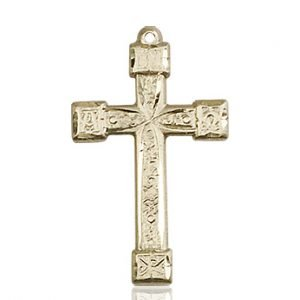 14kt Gold Cross Medal #87918