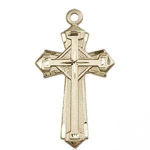 14kt Gold Cross Medal #87950