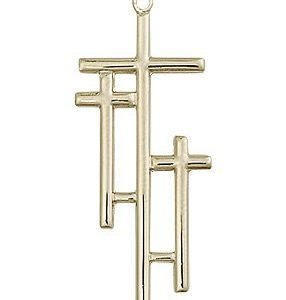 14kt Gold Cross Medal #87993