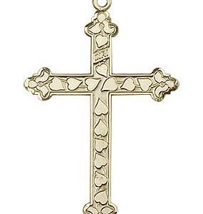14kt Gold Cross Medal #88005