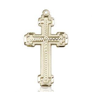 14kt Gold Cross Medal #88021