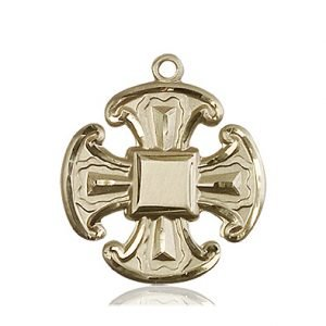 14kt Gold Cross Medal #88073