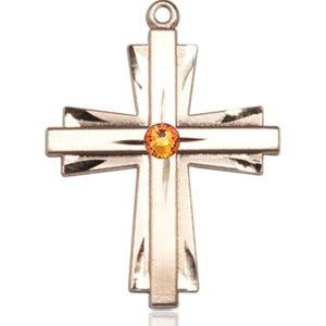 Cross Medal - November Birthstone - 14 KT Gold #88338