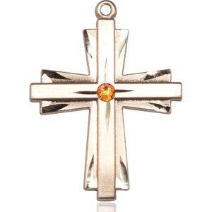 Cross Medal - November Birthstone - 14 KT Gold #88374