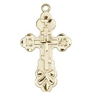 14kt Gold Cross Medal #86975