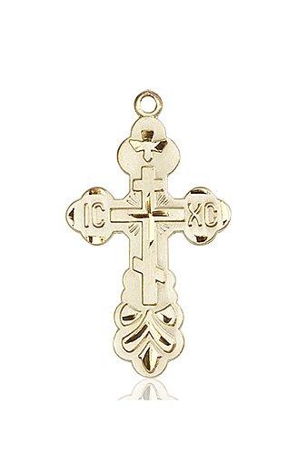14kt Gold Cross Medal #86975