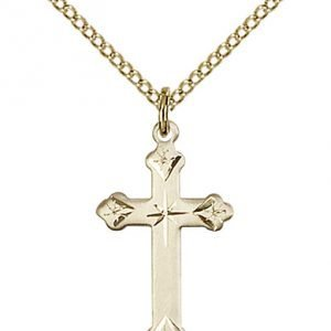 Gold Filled Cross Necklace #87253