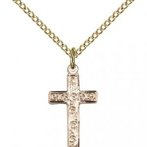 Gold Filled Cross Necklace #87277
