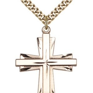 Gold Filled Cross Necklace #87305