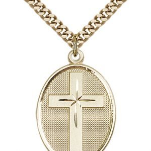 Gold Filled Cross Necklace #87313