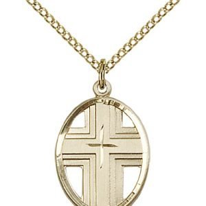 Gold Filled Cross Necklace #87325