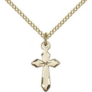 Gold Filled Cross Necklace #87538
