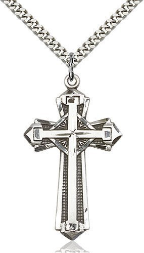 Sterling Silver Cross Necklace #87180