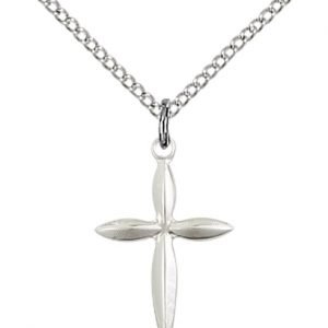 Sterling Silver Cross Necklace #86843