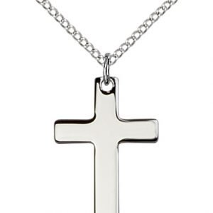 Sterling Silver Cross Necklace #86908