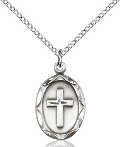 Sterling Silver Cross Necklace #87080