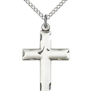 Sterling Silver Cross Necklace #87096