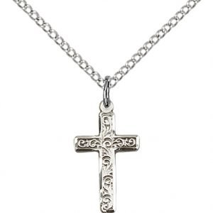 Sterling Silver Cross Necklace #87280