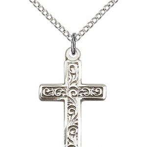 Sterling Silver Cross Necklace #87288
