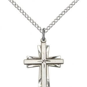 Sterling Silver Cross Necklace #87300