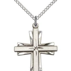 Sterling Silver Cross Necklace #87304