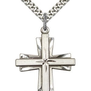 Sterling Silver Cross Necklace #87308