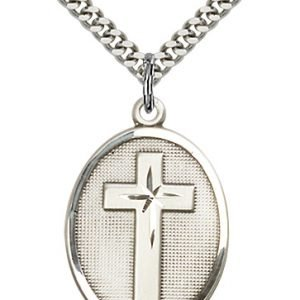 Sterling Silver Cross Necklace #87319