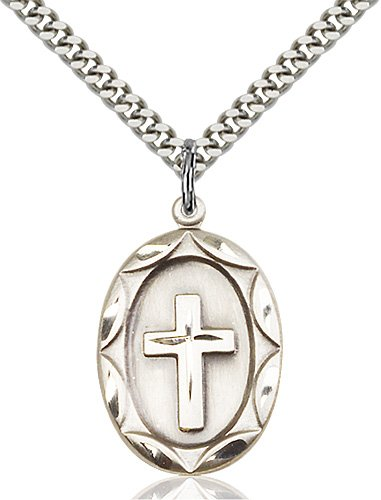 Sterling Silver Cross Necklace #87324