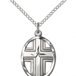 Sterling Silver Cross Necklace #87328
