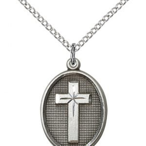 Sterling Silver Cross Necklace #87338