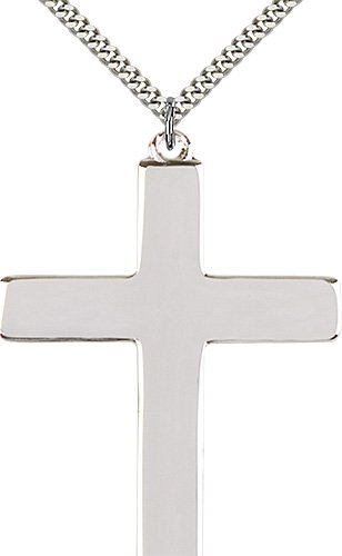 Sterling Silver Cross Necklace #87379