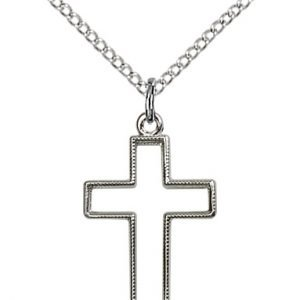 Sterling Silver Cross Necklace #87403