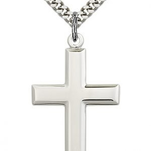 Sterling Silver Cross Necklace #87475