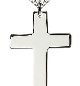 Sterling Silver Cross Necklace #87779