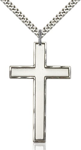 Sterling Silver Cross Necklace #87783