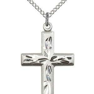 Sterling Silver Cross Necklace #87803