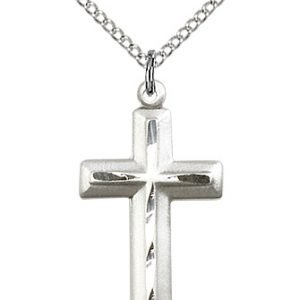 Sterling Silver Cross Necklace #87903